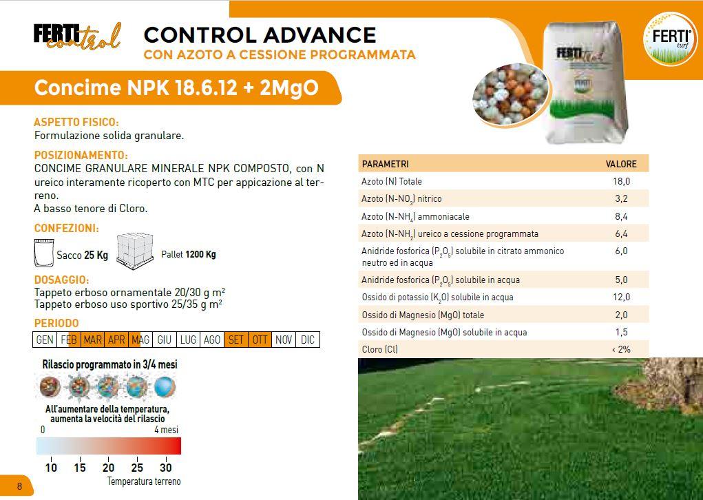 CONTROL ADVANCE 18-6-12 + 2 MgO
