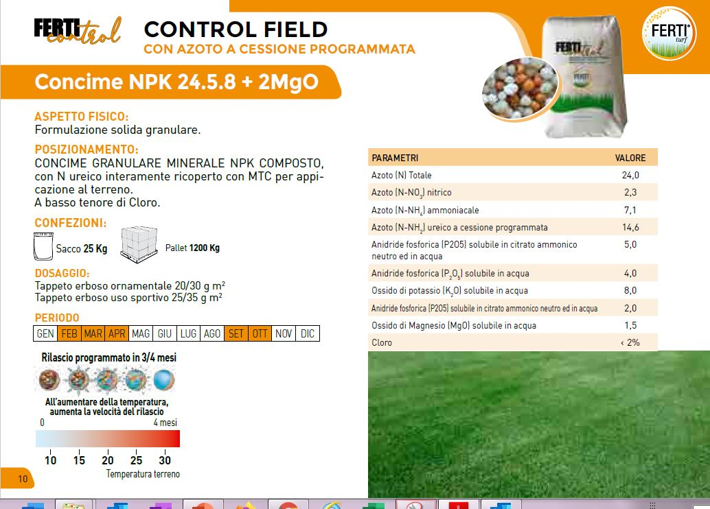 CONTROL FIELD 24-5-8 + 2 MgO