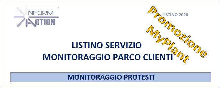 Attività di MONITORAGGIO Protesti sul PARCO CLIENT