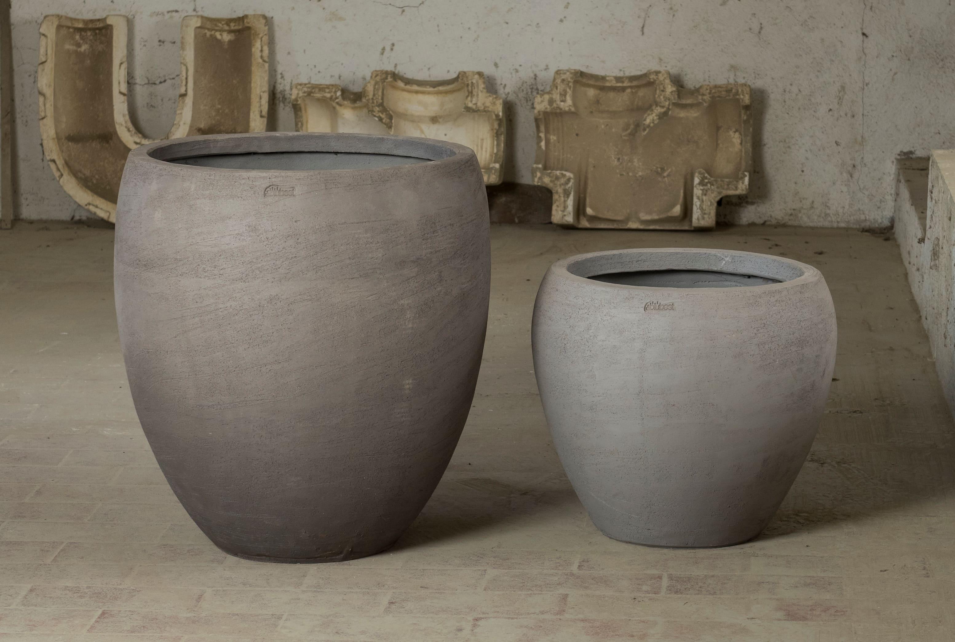 SB Tondo Liscio vaso in terracotta