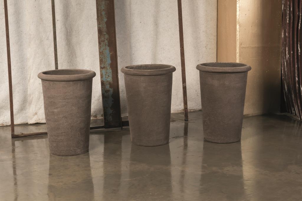 LAM Liscia Alta vaso in terracotta
