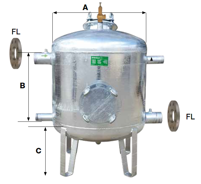 Filtro zincato/ verniciato Quarzite