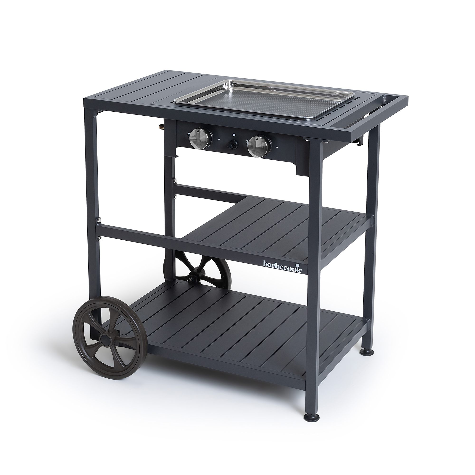 Barbecook Victor plancha with trolley 82.5x85x52.2