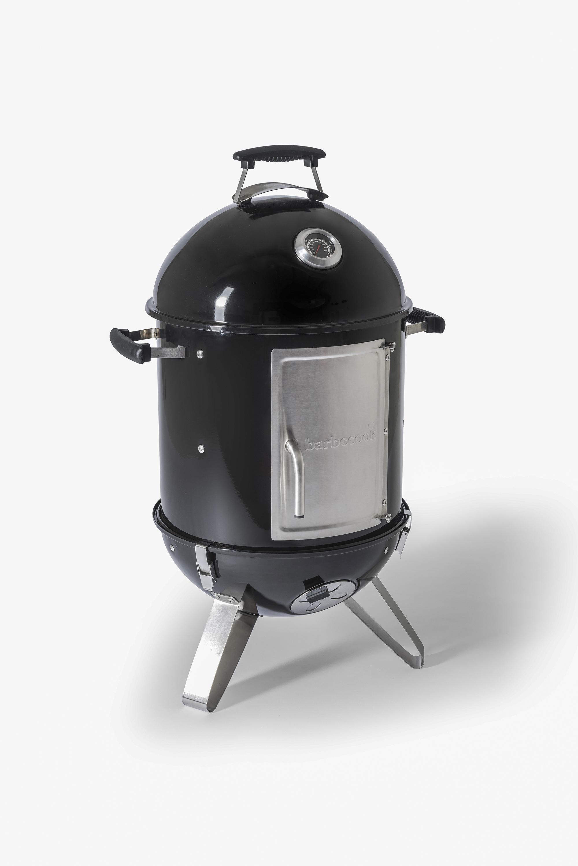 Barbecook Oskar S smoker made of enamel black Ø 40