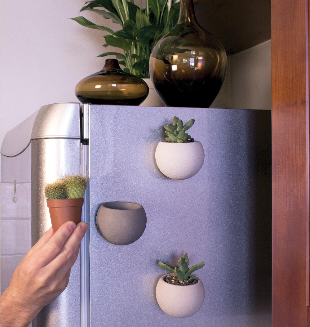 SPHAERA Vaso in Pietra da Parete MAGNETIC SYSTEM