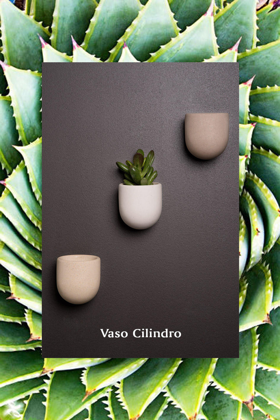 CILINDRO vaso in pietra da parete magnetic system